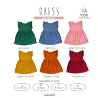 ARDENLEON Baju Dress Ruffle
