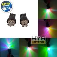 Lampu Senja Sein T10 Warna-warni RGB Sepasang Universal Motor Mobil