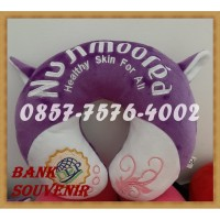 custom bantal leher + kuping souvenir bordir murah