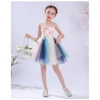 Baju Dress Pesta Ultah Anak Princess Pink Flower Tutu Colorful 4T-8T - 110