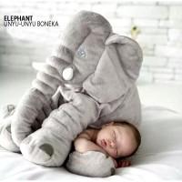 Boneka gajah elephant cute big 60cm bantal guling bayi sandar mobil