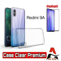 SOFT CASE XIAOMI REDMI 9A - CLEAR PREMIUM BONUS TEMPERED GLASS WARNA