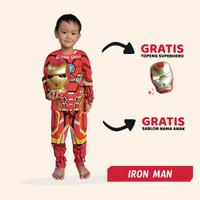 Baju Anak Iron Man Setelan Kostum