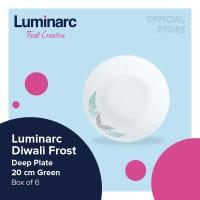 Luminarc Piring Diwali Frost - Deep Plate 20Cm Green Box of 6