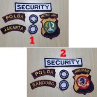 Atribut Lengkap Security Satpam