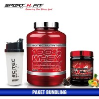 BUNDLE 2 SCITEC WHEY PROTEIN PROFESIONAL + ST HOT BLOOD TROPICAL - Coklat