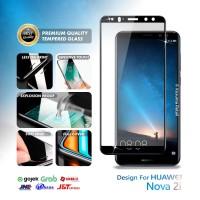 Tempered Glass Huawei Nova 2i Full Cover Full Layar Black Premium