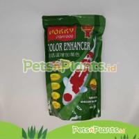 Pelet Pakan Makanan Ikan Koi Hokky Color Enhancer Spirulina Penambah W - M - Protein 40%, EXP 6-12 BULAN