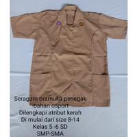 Baju seragam Pramuka Penegak wanita Lengan pendek SD-SMP-SMA