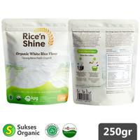 Tepung Beras Putih Organik | 250gr | Rice 'n Shine | MPASI