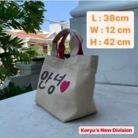PROMO TOTE BAG tas Korea tas reuseble bag tas KANVAS KOREA LOVE K 03