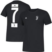 T-Shirt Kaos Juventus Cristiano Ronaldo Adidas Amplifier - Hitam, M
