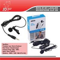 Microphone Mic Clip On Boya BY-M1 Lavalier For DSLR -Mirorless-HP DLL