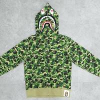 Bape x IT 30th Anniversary Shark Full Zip Hoodie Green 100% Authentic