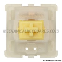 Gateron KS-3X1 Milky Yellow Switch (Linear - PCB Mount)