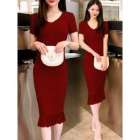 S1 Dress Duyung Rajut Baju Fashion Wanita Premium Pakaian Cewek Ngepas