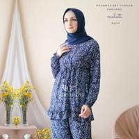 Pajamas Set Rayon Melati Rempel BUSUI |Tangan panjang , Celana panjang