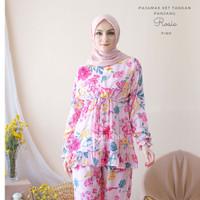 Pajamas Set Rayon Rosie Rempel BUSUI|Tangan panjang,Celana panjang