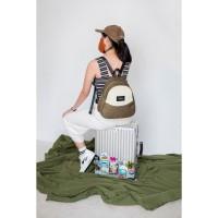 KANAVAIA Pocket Backpack in Olive Green/Cream