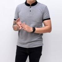 Kaos Polo Pria Polo Shirt Kerah Shanghai Polos Abu Muda Misty Grey