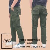 Celana Cargo Panjang Pria Army Premium Basic Polos Original Celana Hik