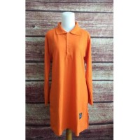 Ready Stock Kaos Polo Shirt Muslimah Big Size Xxl Jumbo - Merah Promo