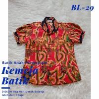 Kemeja Anak Cewek Batik Katun Berkualitas Baju Perempuan Usia 3-14 th