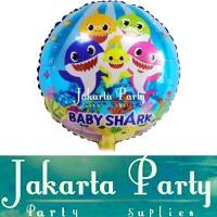 Balon Bulat baby shark / Balon karakter baby shark / Balon Foil