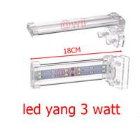 LAMPU YANG LED 3 watt jepit 3watt 3 w 3w aquarium aquascape