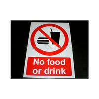 stiker sign no food drink makan minum dilarang cafe kafe restoran