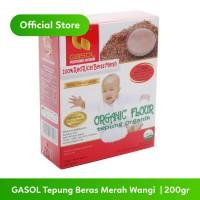 GASOL Organik Tepung Beras Merah Wangi 200Gr / 200 Gr / Makanan Bayi