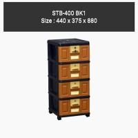LEMARI PLASTIK / EXCEL / LACI 4 SUSUN NAPOLLY STB 400