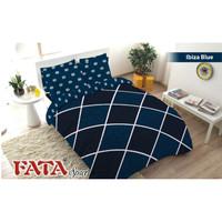 Bed cover set Fata Minimalis ukuran 180 x 200 King no.1 Ibiza Blue