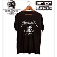 Kaos Baju METALLICA BAND Logo Musik Kaos Rock - Gilan Cloth