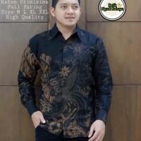 Kemeja Batik Pria Wahyu Tumurun Size M-XXL premium baju batik Pria