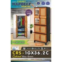 Lemari pakaian gantung plastik napolly 65x45x180cm CRS-1GX36.2C