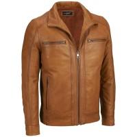 jaket kulit super asli domba garut warna coklat tua