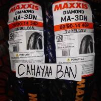 BAN MOTOR MATIC MIO 1 PASANG, DPN & BLK MAXXIS 70/90 & 80/90-14 TUBLES