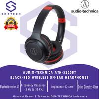 Headphone Bluetooth With Mic Audio Technica ATH-S200BT Black Original