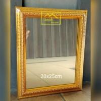 Cermin Bingkai Ukir Gold, Size.(20x25cm)