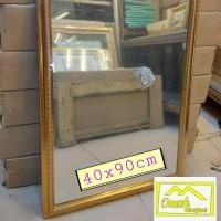 Cermin bingkai ukir gold.40x90cm