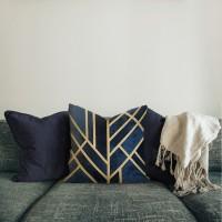 Endang | sarung bantal pillow cover 45 cm motif hitam sofa emas mewah