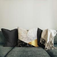 Kuil | sarung bantal pillow cover 45 cm motif marmer halus tebal awet