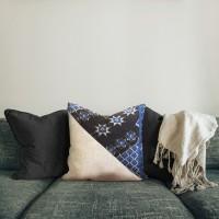 Templat   sarung bantal throw pillow shabby tenun sofa cushion 40x40