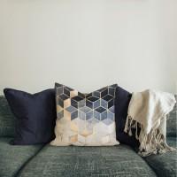 Dukong sarung bantal pillow cover 45 cm kursi sofa shabby halus modern