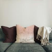 Orahili  sarung bantal pillow mewah 45 cm motif sofa shabby pink bagus