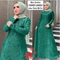 Baju Gamis Wanita Terbaru Murah Maxi Jumken Bahn Moscrepe Kombi Brukat