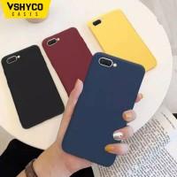 Pure Yellow Black Matte Soft TPU Case OPPO A12 A37 A57 F1S F5 F7 A83