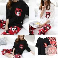Baju Tidur Piyama Cute Cartoon Mickey Mouse Import Pajamas