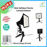 Softbox Mini + Lampu Foto 45 watt Limited edition